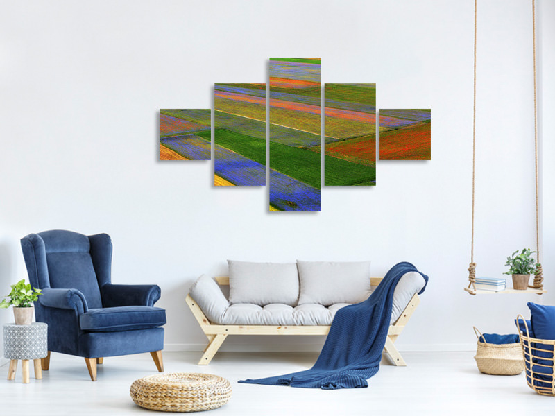 5 Piece Canvas Print La Coperta